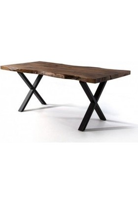 Zigzag Doğal Kütük Yemek Masası