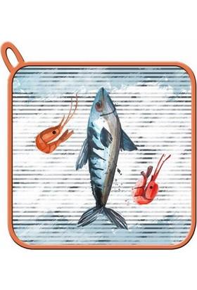 Maison M MAS1023 Fish Marine Desen Tutaç