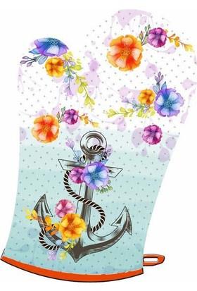 Maison M MAS1028 Flowers Marine Desen Eldiven