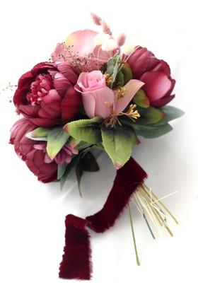 Hidden Botanics Pembe Gelin Çiçeği Takımı: Damat Yaka Çiçeği Ve Taç