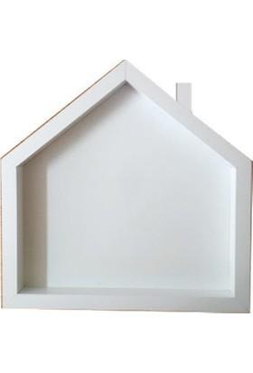 Kokita Beyaz Ev Kokulu Taş Panosu (Çerçevesi) - 29.5 x 29.5 Cm