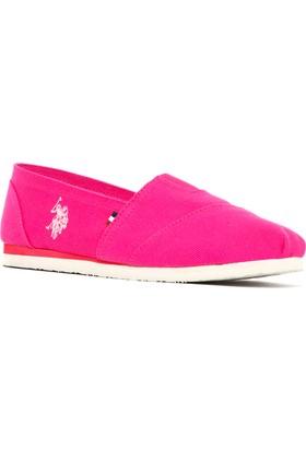 U.S. Polo Assn. Kadın Y7Huff Espadril Ayakkabı Pembe