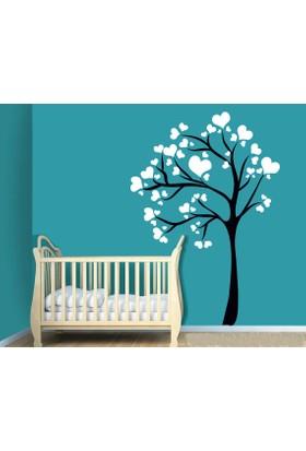 Freya Kalp Yapraklı Ağaç Duvar Stickerı