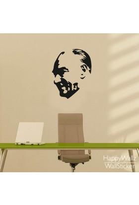 Freya Gülümseyen Atatürk Silüeti Duvar Stickerı