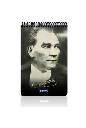 Gıpta Atatürk Spiralli Ofset PP.Kapaklı Blok A4 100 Yaprak Kareli