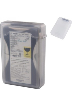 """Appa 3.5"""" Harddisk Taşıma Ve Koruma Kutusu Şeffaf Plastik Srf-809-Hdd"""