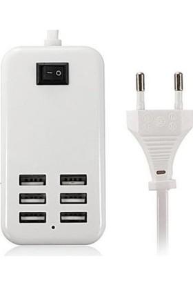 Appa Elektrikli 6 Port Usb Çoklayıcı Priz Şarj Cihazı Srf-400