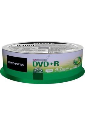 Sony DVD+R 4.7 GB. 25'li Paket