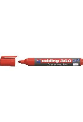Edding 360 Beyaz Tahta Kalemi Kırmızı