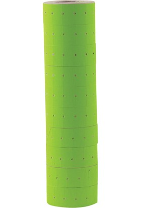 Kraf Motex Etiket Fosforlu 10'lu Paket Yeşil