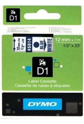Dymo D1 Yedek Şerit 12mmx7mt Beyaz/Mavi (45014)