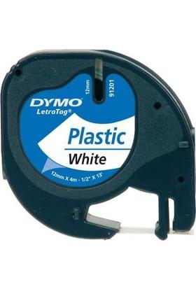 Dymo Şerit Letratag Plastik Etiket 12mmx4m Kırmızı