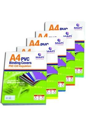 Mapi Cilt Kapağı A4 PVC 160 Micron 100'lü Paket Şeffaf