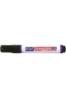 Kraf Permanent Markör Kesik Uç (230) Siyah