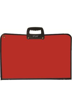 Kraf Proje Çantası Sanatsal 38X53cm. (855G) Kırmızı