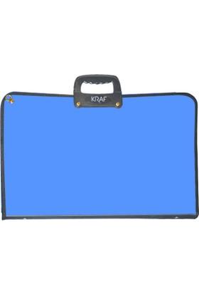 Kraf Proje Çantası Sanatsal 38X53cm. (855G) Mavi