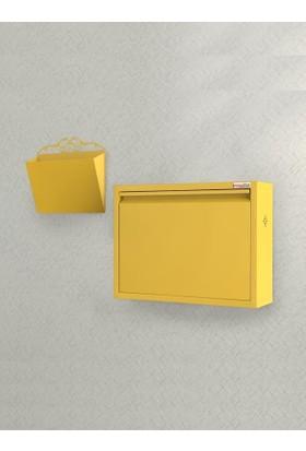 Pappuchbox M-Dz-1000 Tekli Sarı Takım Metal Ayakkabılık