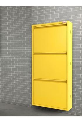 Pappuchbox Dz-1000 3'Lü Sarı Metal Ayakkabılık