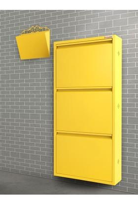 Pappuchbox Dz-1000 3'Lü Sarı Takım Metal Ayakkabılık
