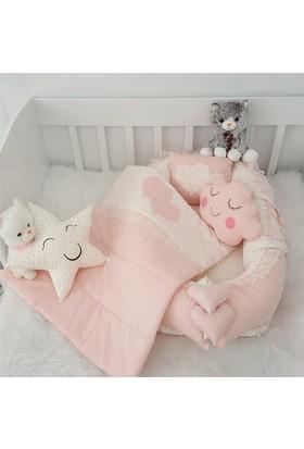 Modastra Babynest Pudra Minik Yıldız Desenli Uyku Seti Baby Nest