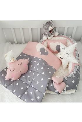 Modastra Babynest Pembe Gri Uyku Seti Baby Nest