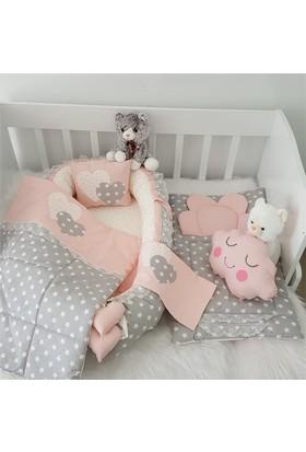 Modastra Babynest Gri Pudra Yıldız Desenli Alt Açma Ve Uyku Seti Baby Nest