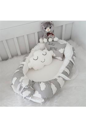 Modastra Babynest Bulutlu Özel İsimli Uyku Seti Baby Nest