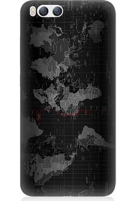 Teknomeg Xiaomi Mi6 Harita Baskılı Silikon Kapak Kılıf