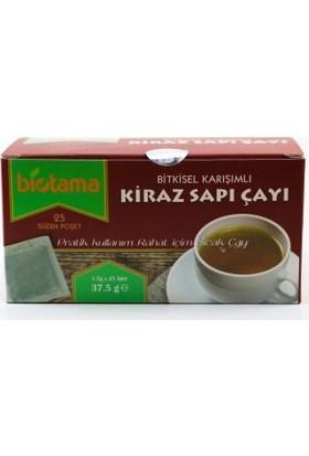 Biotama Kiraz Sapı Çayı Bitkisel Karışımlı 25 Süzen Poşet
