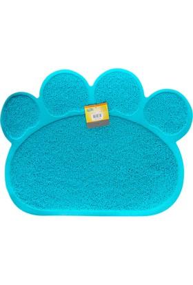 Catia Kedi Paspası Mavi 60X45 Cm
