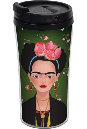 ALLMUG İç-Dış Plastik Termos - Frida Kahlo
