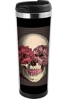 ALLMUG İçi Çelik Renkli Termos - Skull