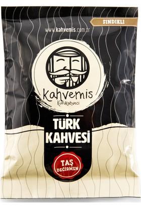 Kahvemis Fındıklı Türk Kahvesi Orta Kavrulmuş 100 gr Folyo Ambalaj