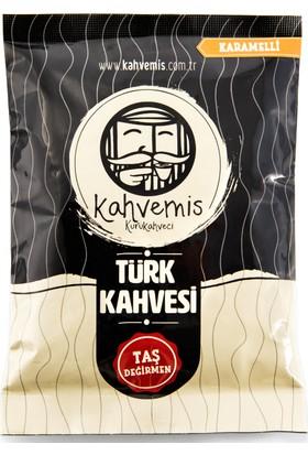 Kahvemis Karamelli Türk Kahvesi Orta Kavrulmuş 100 gr Folyo Ambalaj