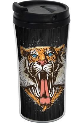 ALLMUG İç-Dış Plastik Termos- Tiger