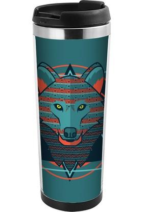 ALLMUG İçi Çelik Renkli Termos- Wolf