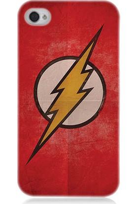 Teknomeg Apple iPhone 4S Flash Logo Desenli Silikon Kılıf