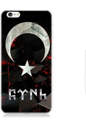 Teknomeg Apple iPhone 6S Bayrak Ve Türk Desenli Silikon Kılıf