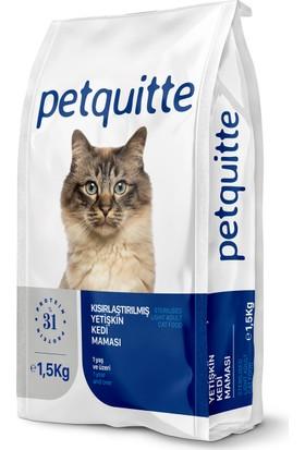 Petquitte Kısırlaştırılmış Yetişkin Kedi Maması 1,5 Kg
