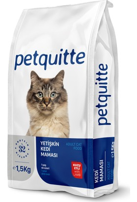 Petquitte Yetişkin Kedi Maması Kuzu Etli 1,5 Kg