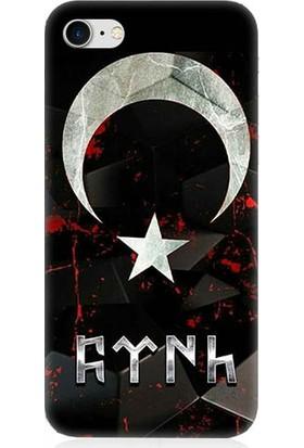 Teknomeg Apple iPhone 7 Bayrak Ve Türk Desenli Silikon Kılıf