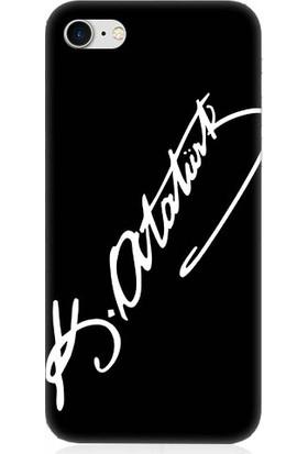 Teknomeg Apple iPhone 7 Atatürk İmzası Desenli Silikon Kılıf