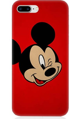 Teknomeg Apple iPhone 7 Plus Mickey Mouse Desenli Silikon Kılıf