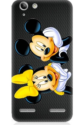 Teknomeg Lenovo K5 Minnie Ve Micky Mouse Desenli Silikon Kılıf