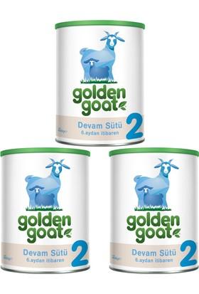 Golden Goat 2 Keçi Sütü Bazlı Devam Sütü 400 gr - 3'lü