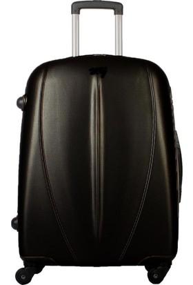 My Luggage Dayanıklı Sert Yüzey Orta Boy Valiz Siyah 10122