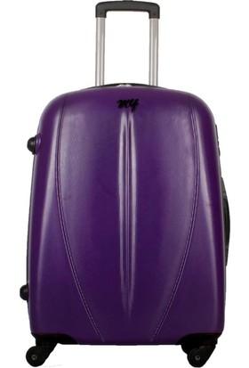 My Luggage Dayanıklı Sert Yüzey Orta Boy Valiz Mor 10122