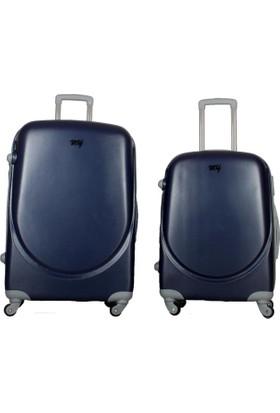 My Luggage Yeni Sezon Sert Yüzey 2 li Valiz Seti Laci (Büyük Orta Boy) 10111