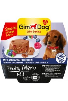 Gimdog Fruity Ezme Kuzu Eti ve Yaban Mersinli Köpek Konservesi 100 gr