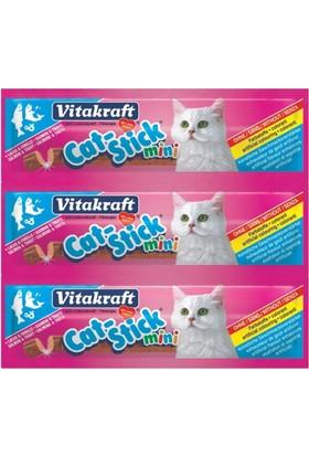 Vitakraft Cat Stick Somon ve Alabalıklı 3 lü Kedi Ödül Çubuk 54 gr